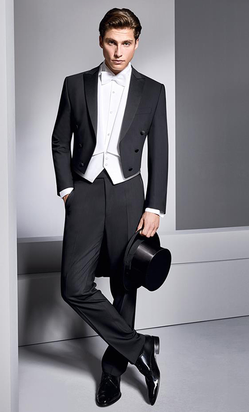 d10cd9ace3 Traditional black tie classic cut wool suit in both Black and White.  Designer slim cut black suit and Navy slim cut dinner jacket.
